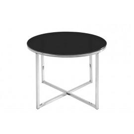 ACTONA stolik kawowy CROSS czarny - szkło chrom
