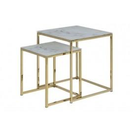 ACTONA zestaw stolików ALISMA marmur - szkło metal