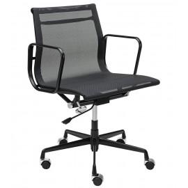 Fotel biurowy BODY PRESTIGE czarny - tkanina aluminium