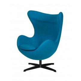 Fotel EGG CLASSIC BLACK ciemny turkus.16 - wełna podstawa czarna