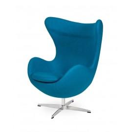 Fotel EGG CLASSIC ciemny turkus.16 - wełna podstawa aluminiowa
