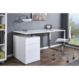 INVICTA biurko COMPACT białe - MDF chrom