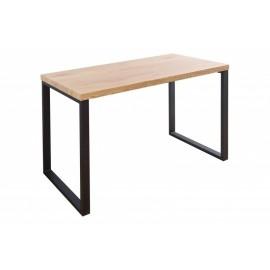 INVICTA biurko OAK 128 dąb - fornirowany MDF nogi metalowe