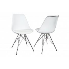 INVICTA krzesło SCANDINAVIA białe - podstawa chrom