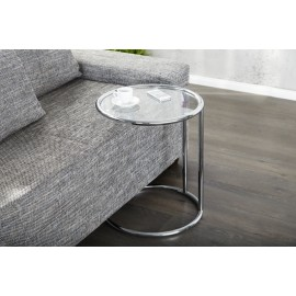 INVICTA stolik ART DECO chrom - metal szkło