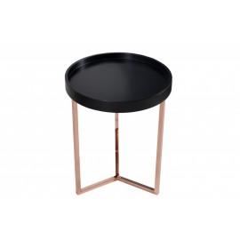 INVICTA stolik MODULAR 40 czarny - miedziana podstawa