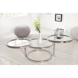 INVICTA stolik rozkładany ART DECO 3 chrom