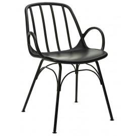 Krzesło CASTERIA czarne - polipropylen