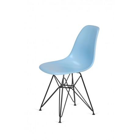 Krzesło DSR BLACK błękitny.11 - podstawa metalowa czarna