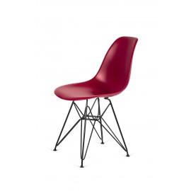 Krzesło DSR BLACK bordowy.36 - podstawa metalowa czarna