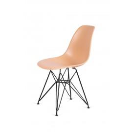 Krzesło DSR BLACK ciepły kremowy.32 - podstawa metalowa czarna