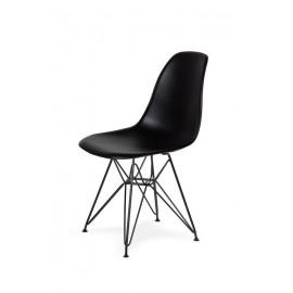 Krzesło DSR BLACK czarne.03 - podstawa metalowa czarna
