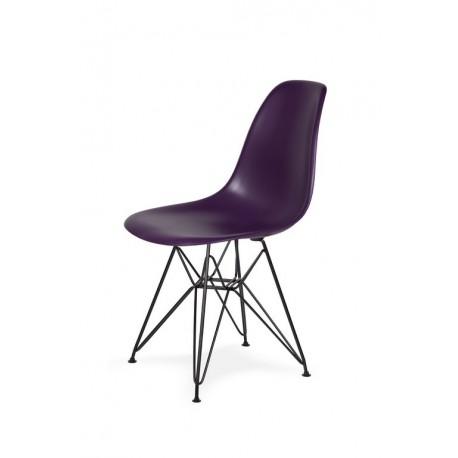 Krzesło DSR BLACK fioletowa purpura.39 - podstawa metalowa czarna