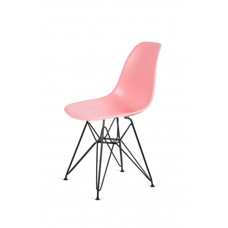 Krzesło DSR BLACK jasna brzoskwinia.34 - podstawa metalowa czarna