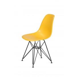 Krzesło DSR BLACK kanarkowy.30 - podstawa metalowa czarna