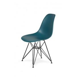 Krzesło DSR BLACK marynarski niebieski .23 - podstawa metalowa czarna