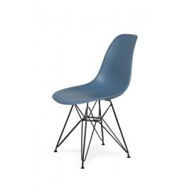 Krzesło DSR BLACK pastelowy niebieski .26 - podstawa metalowa czarna