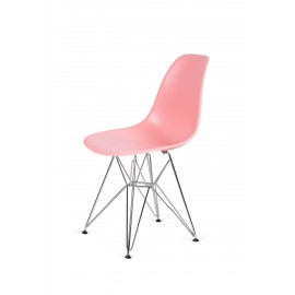 Krzesło DSR SILVER jasna brzoskwinia.34 - podstawa metalowa chromowana