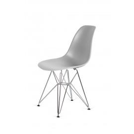Krzesło DSR SILVER jasny szary.05 - podstawa metalowa chromowana