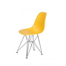 Krzesło DSR SILVER kanarkowy.30 - podstawa metalowa chromowana