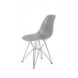 Krzesło DSR SILVER szary.30 - podstawa metalowa chromowana