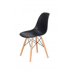Krzesło DSW WOOD antracytowy.39 - podstawa drewniana bukowa