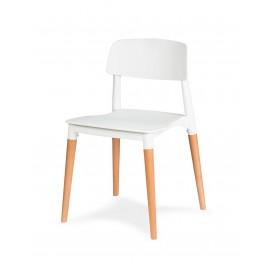 Krzesło ECCO PREMIUM białe - polipropylen buk