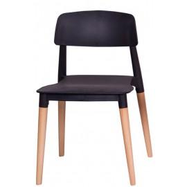 Krzesło ECCO PREMIUM czarne - polipropylen buk