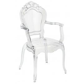 Krzesło KING ARM transparentne - poliwęglan