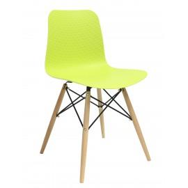 Krzesło KRADO DSW PREMIUM zielone - polipropylen podstawa bukowa