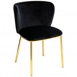 Krzesło MANTIS czarne - welur podstawa złota