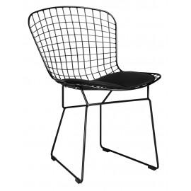 Krzesło NET SOFT czarne - czarna poduszka metal