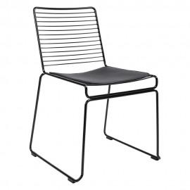 Krzesło ROD SOFT czarne - czarna poduszka metal