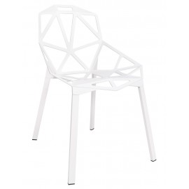 Krzesło SPLIT PREMIUM białe - aluminium nogi białe