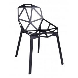Krzesło SPLIT PREMIUM czarne - aluminium nogi czarne