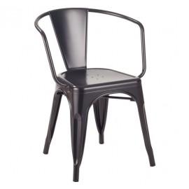 Krzesło TOWER ARM (Paris Arms) czarne - metal