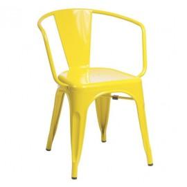 Krzesło TOWER ARM żółte - metal