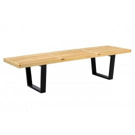 Ławka FRANK - drewno jesionowe metal