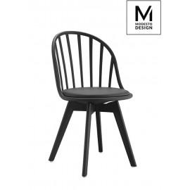 MODESTO krzesło ALBERT czarne - polipropylen ekoskóra