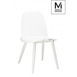 MODESTO krzesło BOOMER białe - polipropylen metal