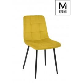 MODESTO krzesło CARLO musztardowe - welur metal