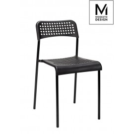 MODESTO krzesło DAVIS czarne - polipropylen metal
