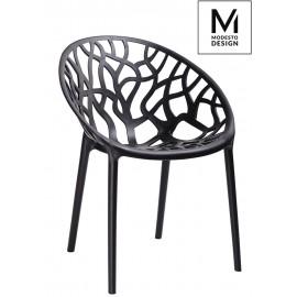MODESTO krzesło KORAL czarne - polipropylen