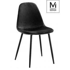 MODESTO krzesło LUCY czarne - welur metal