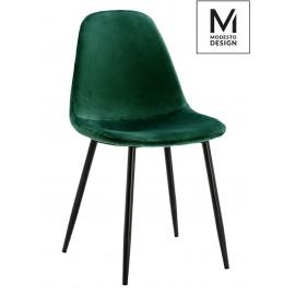 MODESTO krzesło LUCY zielone - welur metal