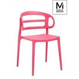 MODESTO krzesło MARCUS malinowe - polipropylen