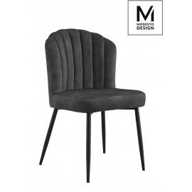 MODESTO krzesło RANGO czarne - welur metal