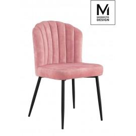 MODESTO krzesło RANGO różowe - welur metal