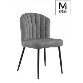 MODESTO krzesło RANGO szare - welur metal