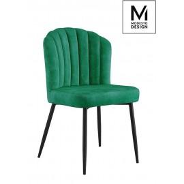 MODESTO krzesło RANGO zielone - welur metal